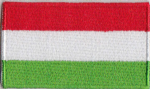 Hungary Embroidered Flag Patch, style 04.